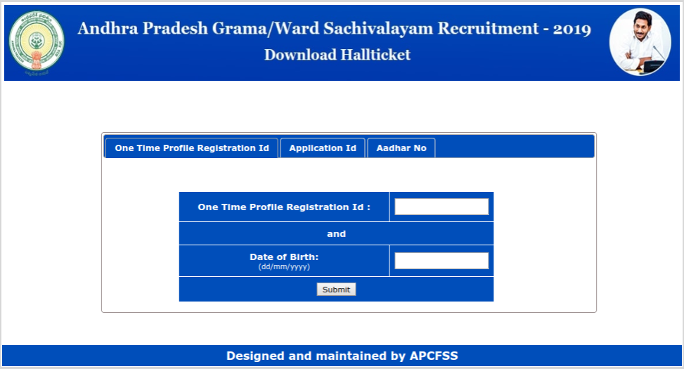 AP Grama Sachivalayam Download Hallticket