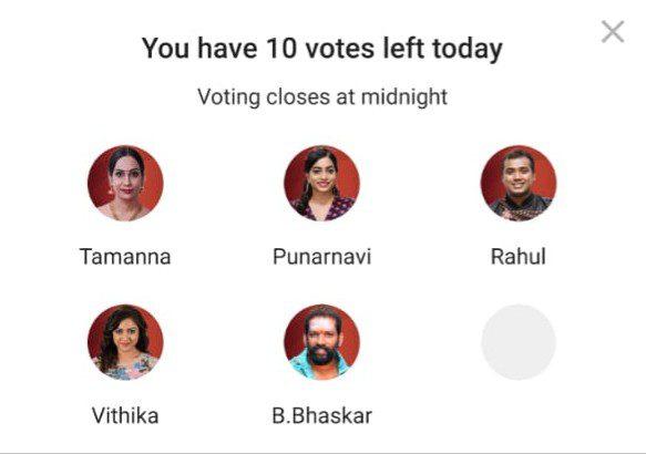 Bigg Boss Telugu 3 Voting: Tamanna, Punarnavi, Rahul, Vithika and