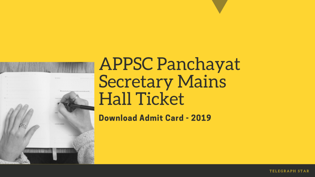 APPSC Panchayat Secretary Mains Hall Ticket 2019 Released | Download Here