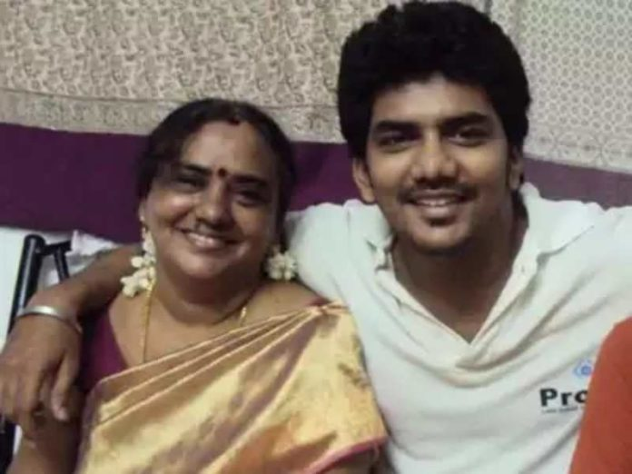 kevin with mother