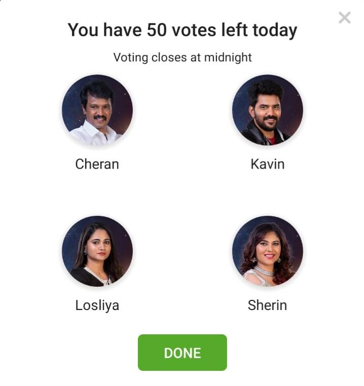 Bigg Boss Tamil Cheran Kavin Losliya Sherin Nominated