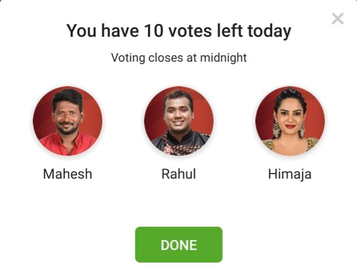 Bigg Boss Telugu Week 9 Nominated Contestants