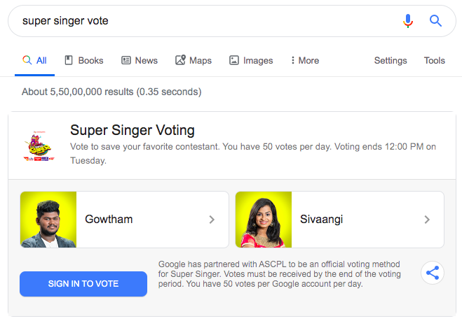 super singer voting