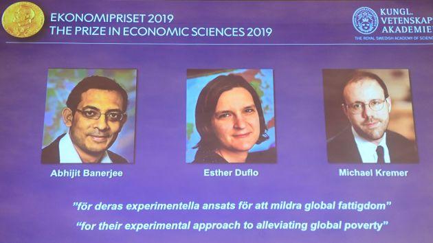 Abhijit Banerjee, Esther Duflo and Michael Kremer win 2019 Nobel Economics Prize