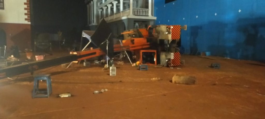 Indian 2 Movie Shooting Crane Accident Kills 3 and severely injures director Shankar and others