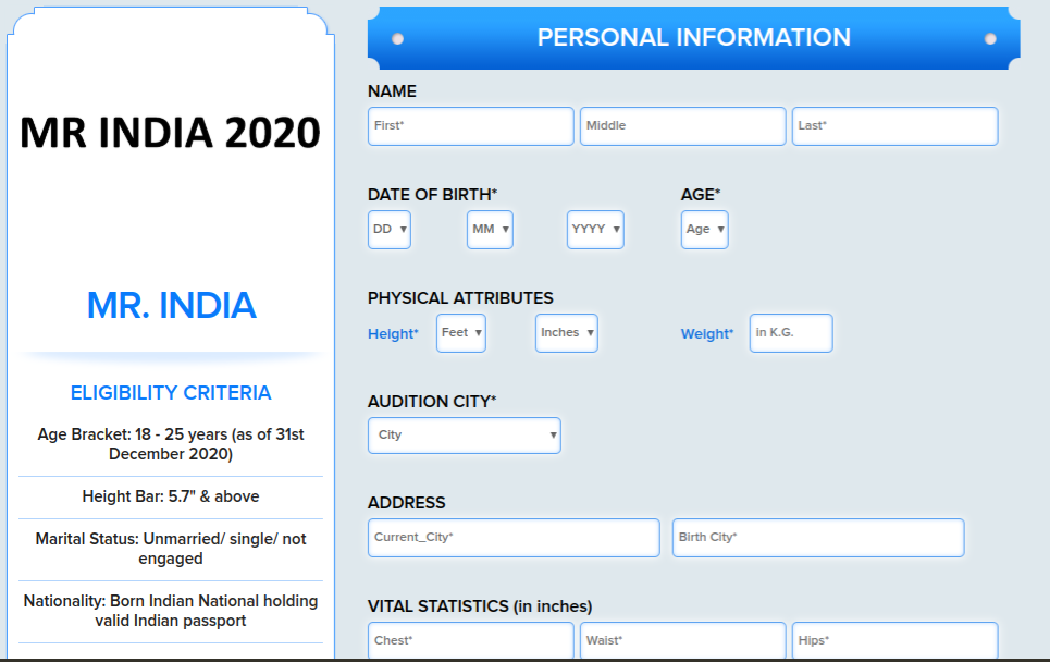 Mr. India 2020 Registrations and Auditions Open – Here's How To Apply   Eligibility and Terms and Conditions Details