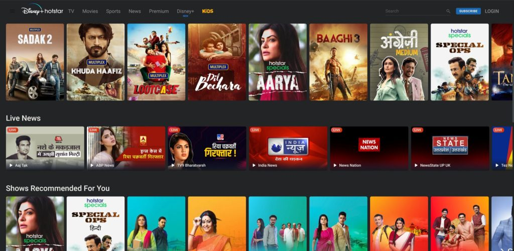 Hotstar App Download & Install at www.Hotstar.com to watch TV Shows, Live Cricket Stream / Scores and Movies
