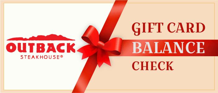 Check Outback Gift Card Balance