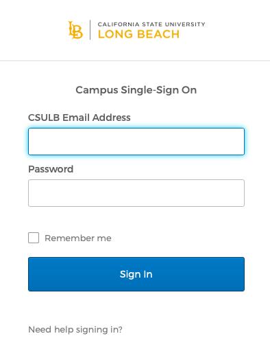 MyCSULB student login process