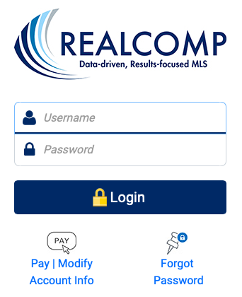 RealComp Online Login Page