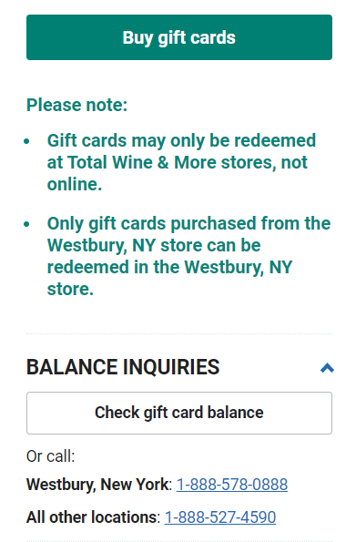 How to Check Your Total Wine and More Gift Card Balance