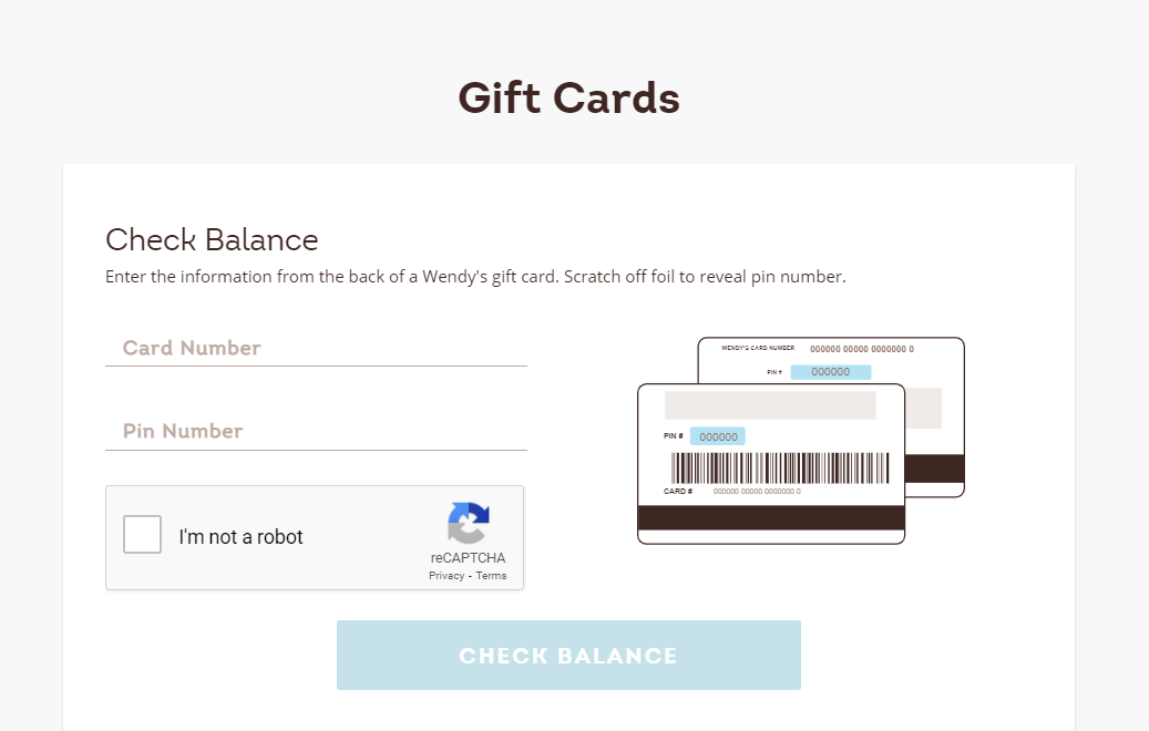 How to Check Your Wendy's Gift Card Balance