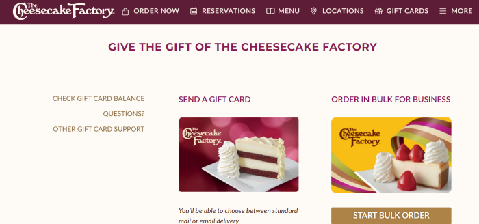 How to Check Your The Cheesecake Factory Gift Card Balance