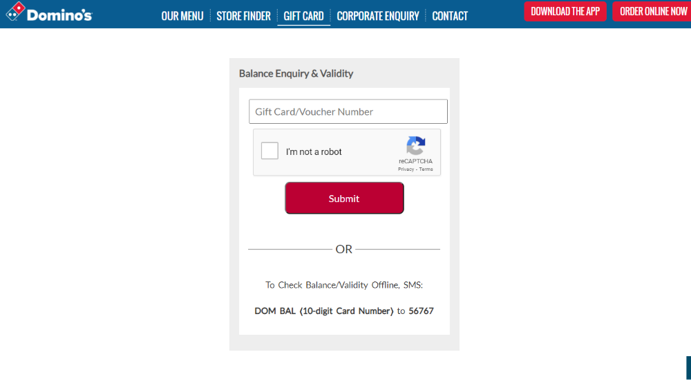 How to Check Your Dominos Gift Card Balance