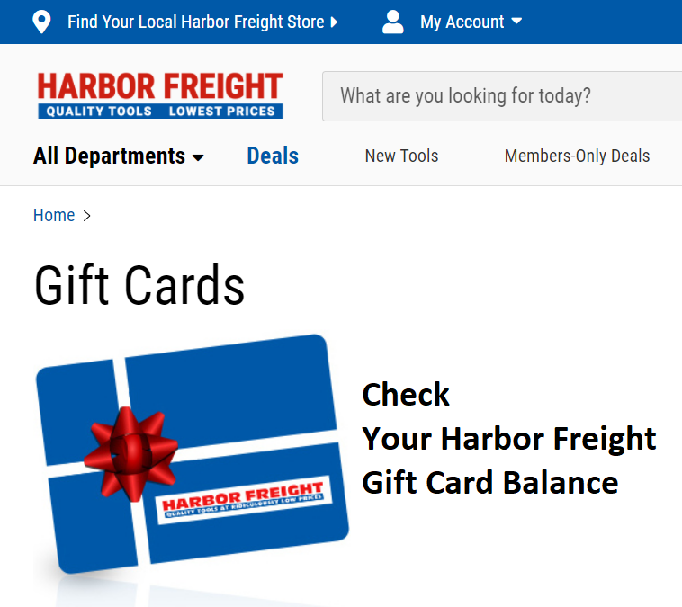 How to Check Your Harbor Freight Tools Gift Card Balance