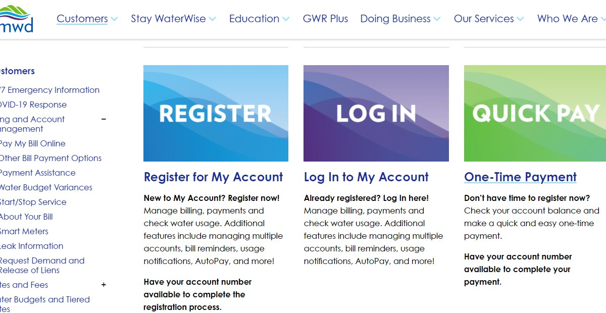 Pay Your EMWD Water Bill Online at www.emwd.org - Login Account