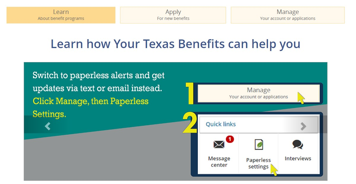 How To Apply For Your Texas Benefits at www.yourtexasbenefits.com